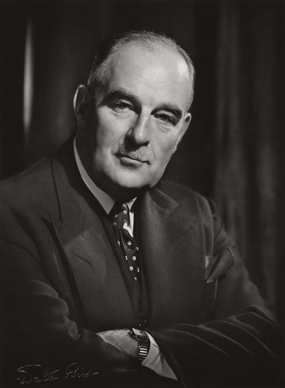 Frederick Godber, 1st Baron Godber of Mayfield, by Walter Bird, 1950s - NPG x16452 - © National Portrait Gallery, London