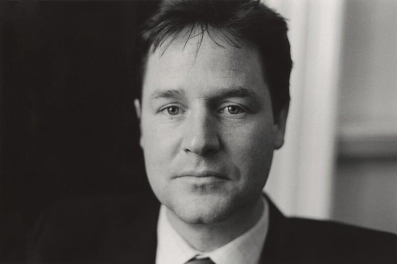 Nick Clegg, by Alexander McIntyre, 2008 - NPG x133372 - © Alexander McIntyre