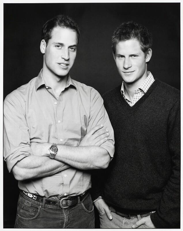 Prince William, Duke of Cambridge; Prince Harry, by Fergus Greer, 8 December 2006 - NPG x133413 - © Fergus Greer