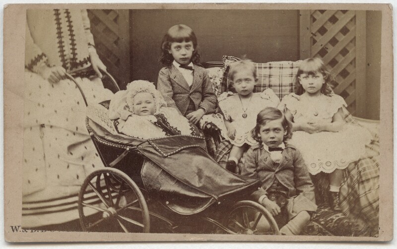 The children of King Edward VII when Prince of Wales, by W. & D. Downey, 1871 - NPG x133414 - © National Portrait Gallery, London