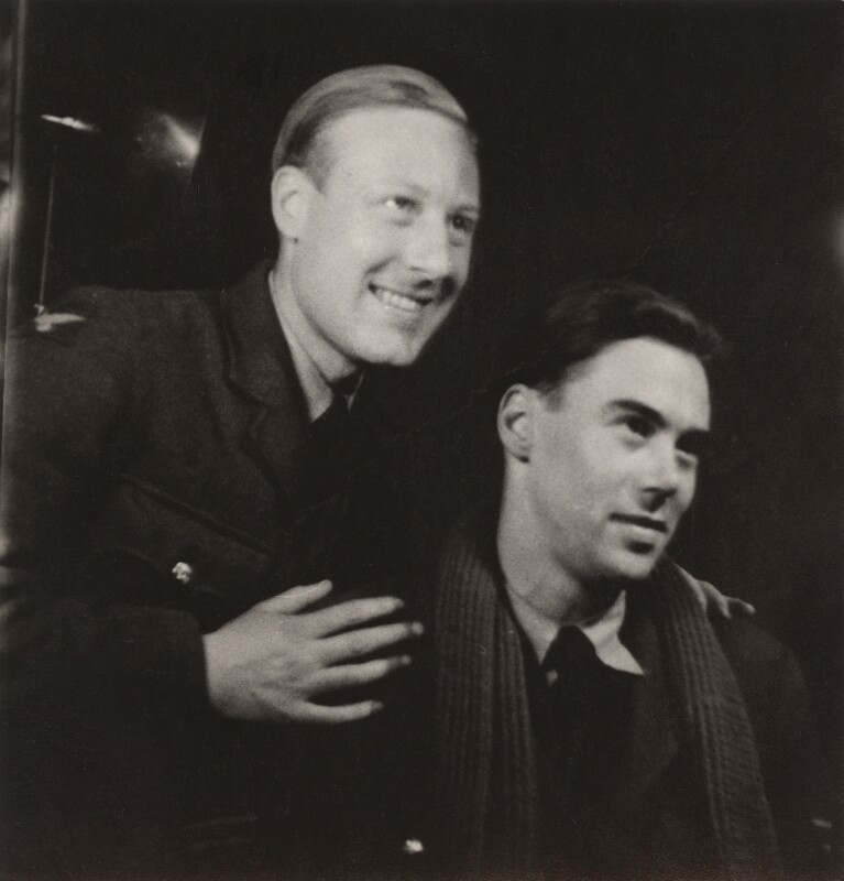 Victor Musgrave and an unknown man, by Ida Kar, 1943-1944 - NPG x134018 - © National Portrait Gallery, London