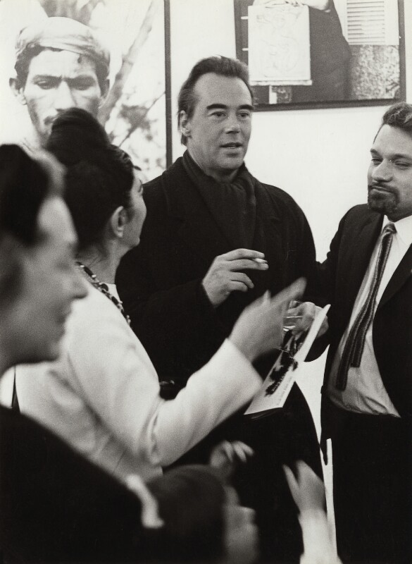 Ida Kar; Victor Musgrave and Pablo Armando Fernández at the opening of 'Ida Kar in Cuba', by Unknown photographer, 9 February 1965 - NPG x134028 - © reserved; collection National Portrait Gallery, London