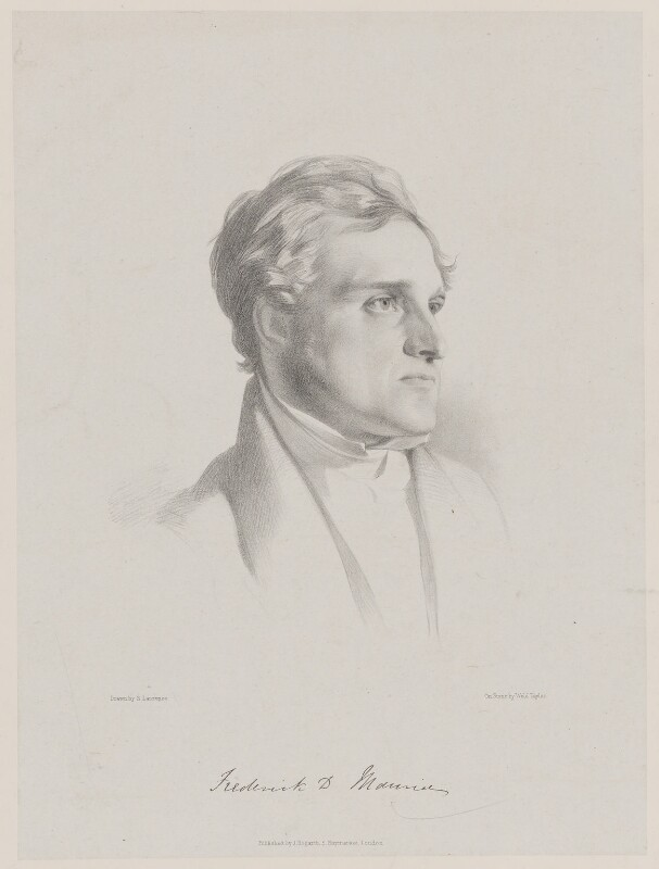 (John) Frederick Denison Maurice, by (Isaac) Weld Taylor, published by  Joseph Hogarth, after  Samuel Laurence, 1840s - NPG D38329 - © National Portrait Gallery, London