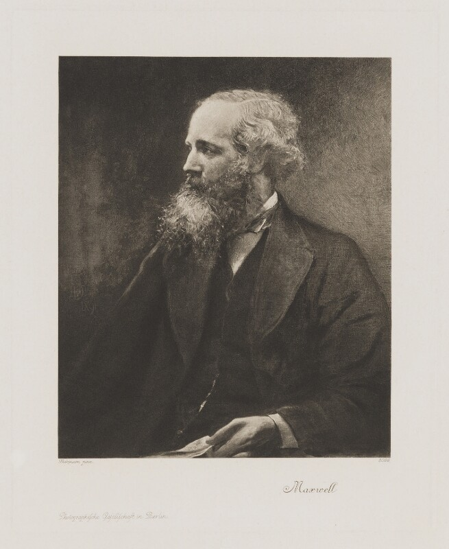James Clerk Maxwell, published by Photographische Gesellschaft, after  Lowes Cato Dickinson, circa 1900 - NPG D38337 - © National Portrait Gallery, London