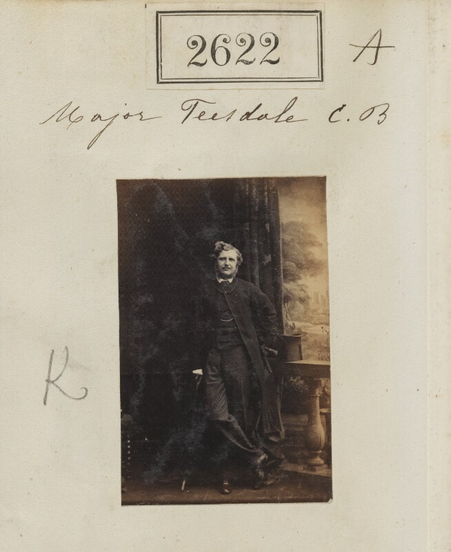 Sir Christopher Charles Teesdale, by Camille Silvy, 20 March 1861 - NPG Ax52011 - © National Portrait Gallery, London