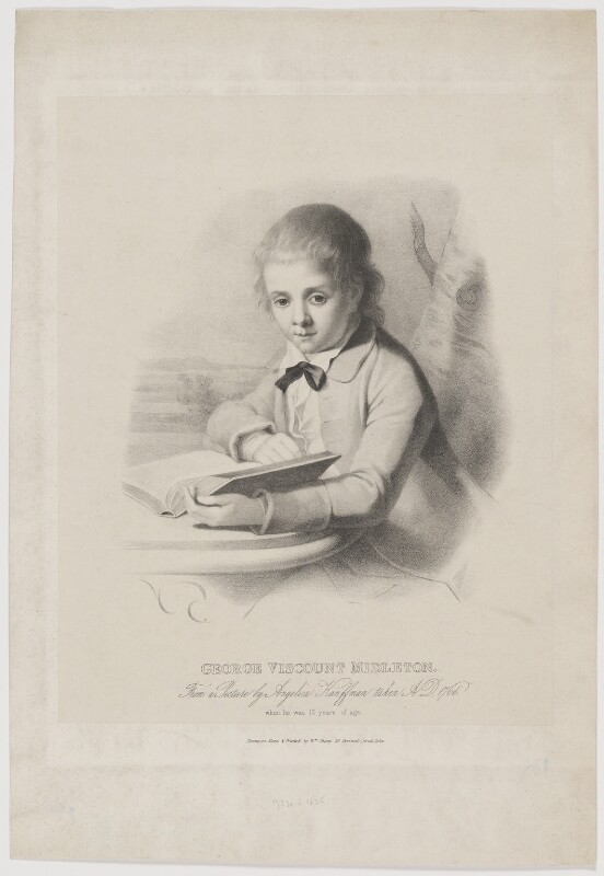 George Brodrick, 4th Viscount Midleton, by and printed by William Sharp, after  Angelica Kauffmann, early 19th century (1766) - NPG D38400 - © National Portrait Gallery, London