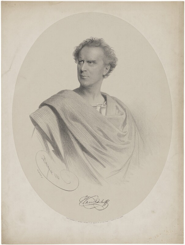 John M. Vandenhoff, by Charles Baugniet, printed by  M & N Hanhart, published by  John Mitchell, 1854 - NPG D38805 - © National Portrait Gallery, London