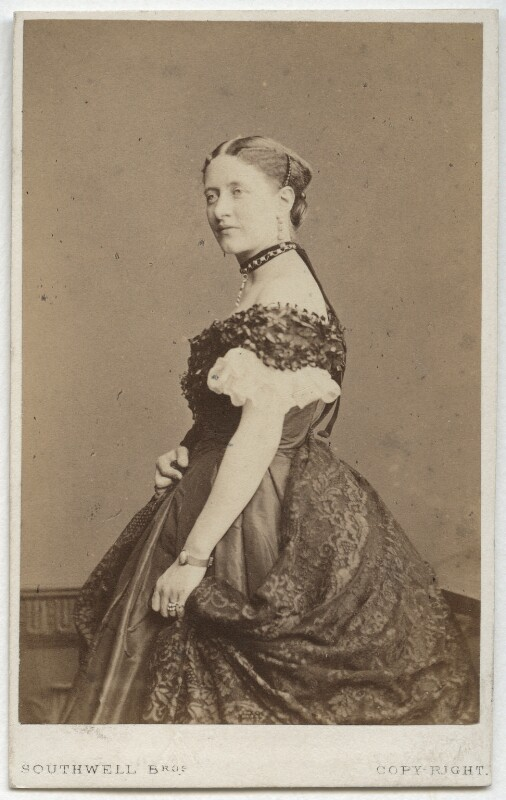 (Louisa) Ruth Herbert, by Southwell Brothers, published by  A. Marion, Son & Co, 1865 - NPG x18446 - © National Portrait Gallery, London