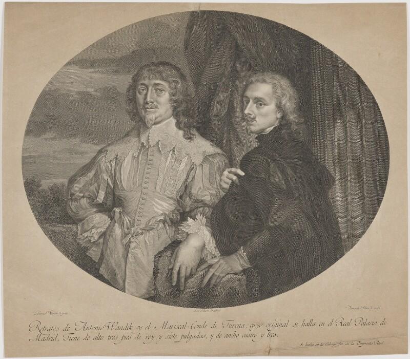 Endymion Porter; Sir Anthony van Dyck, by Fernando Selma, after  Sir Anthony van Dyck, late 18th century - NPG D38810 - © National Portrait Gallery, London
