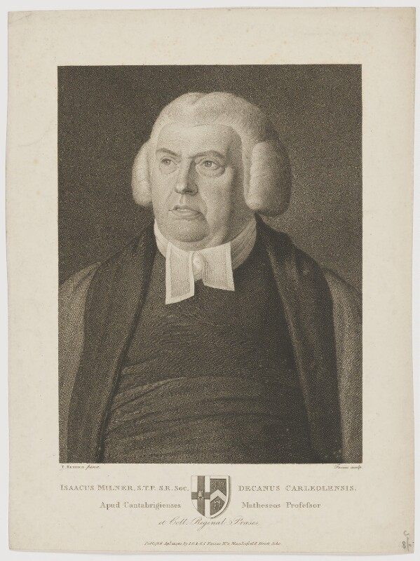 Isaac Milner, by and published by Johann Gottlieb Facius, by and published by  Georg Siegmund Facius, after  Thomas Kerrich, published 22 April 1811 - NPG D38418 - © National Portrait Gallery, London