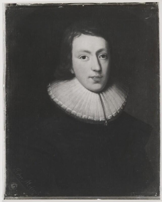 John Milton, after Unknown artist, 1961 (circa 1629) - NPG D38832 - © National Portrait Gallery, London