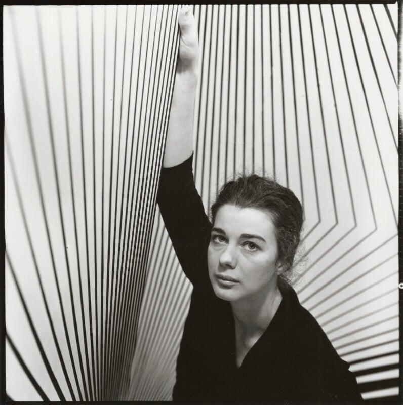 Bridget Riley, by Ida Kar, 1963 - NPG x134152 - © National Portrait Gallery, London