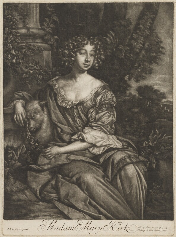 Mary (née Kirke), Lady Vernon, published by Alexander Browne, after  Sir Peter Lely, circa 1680-4 - NPG D39235 - © National Portrait Gallery, London