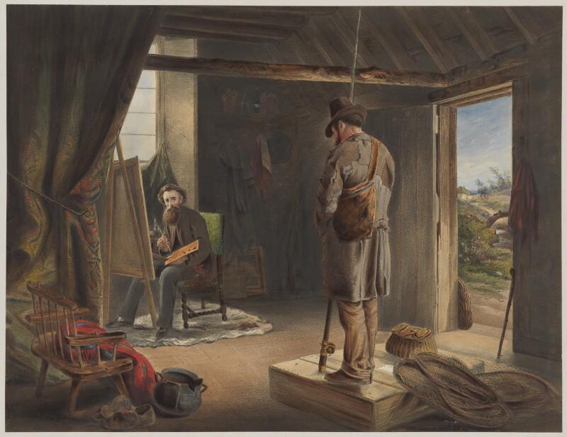 Erskine Nicol, by Vincent Brooks, after  John Ballantyne, 1860s - NPG D38966 - © National Portrait Gallery, London