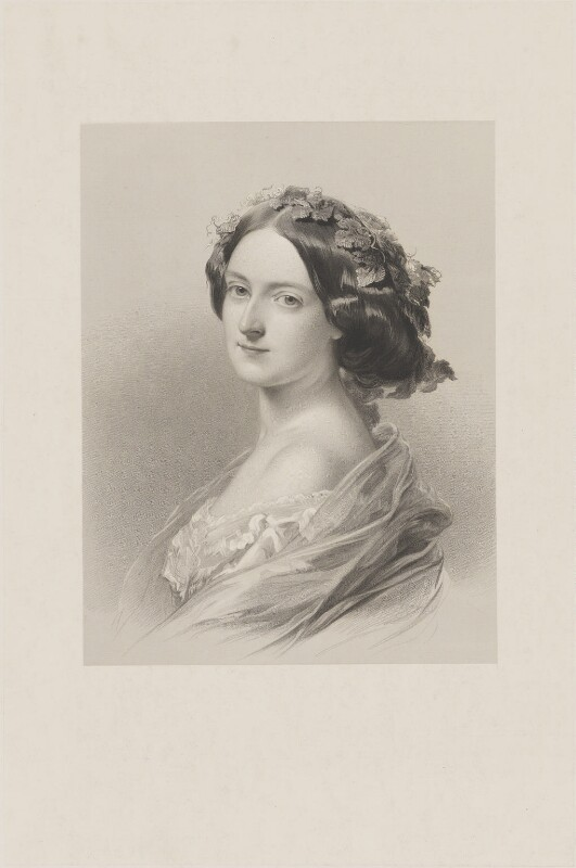 Lady Clementina Augusta Wellington Villiers, by William Henry Mote, after  John Hayter, 1850s - NPG D39242 - © National Portrait Gallery, London