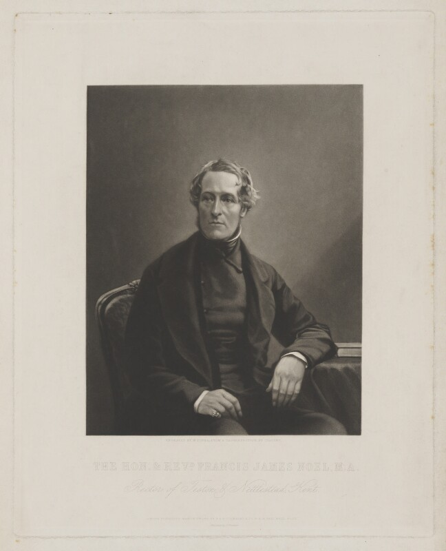Francis James Noel, by George Zobel, printed by  Thomas Brooker, published by  Paul and Dominic Colnaghi & Co, after  Antoine Claudet, published 7 March 1855 - NPG D38977 - © National Portrait Gallery, London