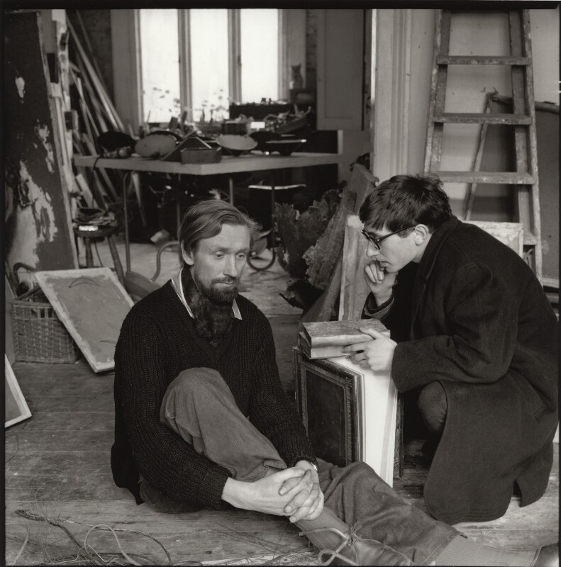 John Aubrey Clarendon Latham; John Kasmin, by Ida Kar, 1963 - NPG x134162 - © National Portrait Gallery, London