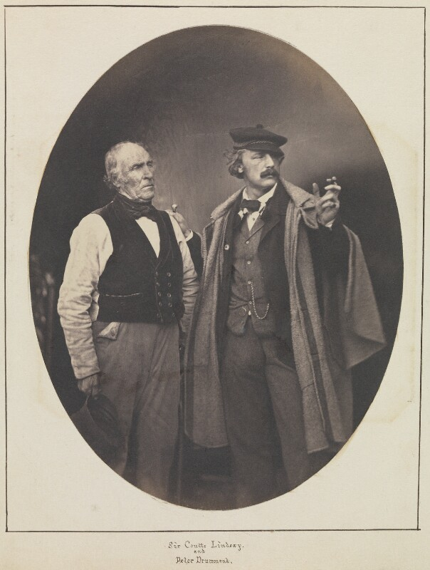 Robert Adamson; Sir Coutts Lindsay, 2nd Bt, by Unknown photographer, 1850s - NPG Ax36075 - © National Portrait Gallery, London