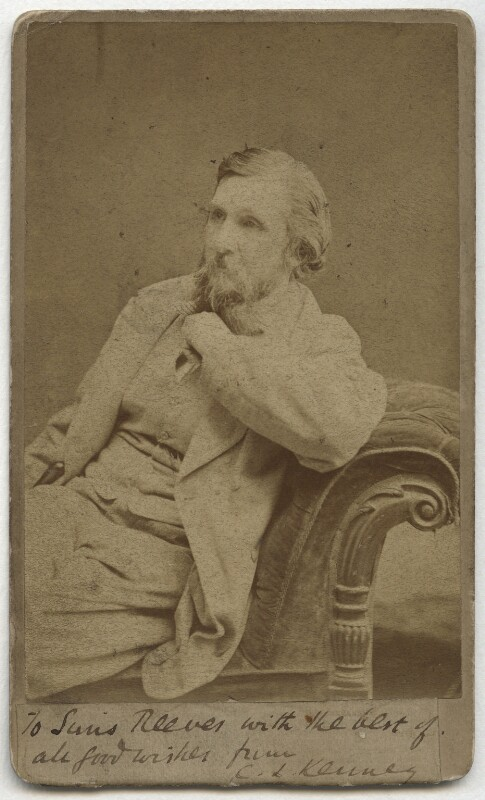 Charles Lamb Kenney, by Charles Hawkins, late 1870s-early 1880s - NPG x132842 - © National Portrait Gallery, London