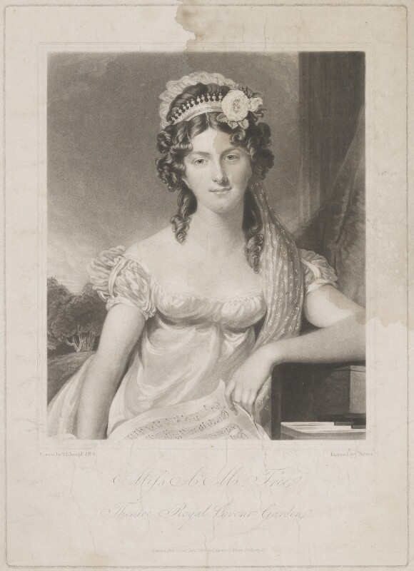 Anna Maria Tree, by and published by Charles Turner, after  George Francis Joseph, published 1 July 1820 - NPG D39279 - © National Portrait Gallery, London