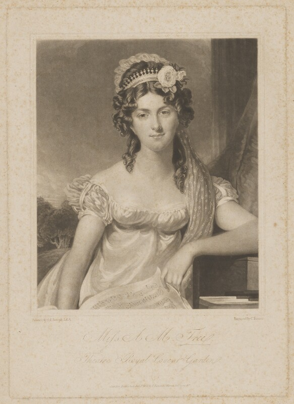 Anna Maria Tree, by and published by Charles Turner, after  George Francis Joseph, published 1 July 1820 - NPG D39280 - © National Portrait Gallery, London