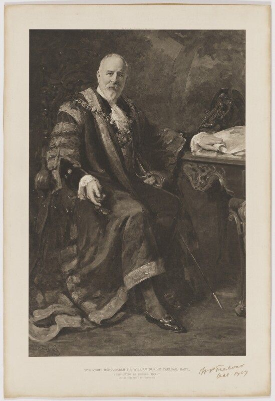 Sir William Purdie Treloar, Bt, published by The Fine Arts Publishing Company, after  Philip Tennyson Cole, 1907 (1907) - NPG D39282 - © National Portrait Gallery, London