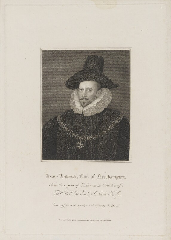 Henry Howard, 1st Earl of Northampton, by William Bond, published by  Lackington, Allen & Co, and published by  Longman, Hurst, Rees, Orme & Brown, after  John Jackson, after  Unknown artist, early 19th century - NPG D38773 - © National Portrait Gallery, London