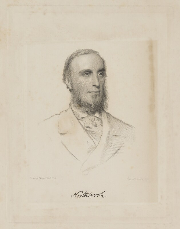 Thomas George Baring, 1st Earl of Northbrook, by Charles Holl, after  Henry Tanworth Wells, 1869 or after - NPG D38778 - © National Portrait Gallery, London