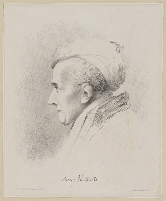 James Northcote, by James Lonsdale, printed by  Engelmann & Co, 9 July 1830 - NPG D38784 - © National Portrait Gallery, London