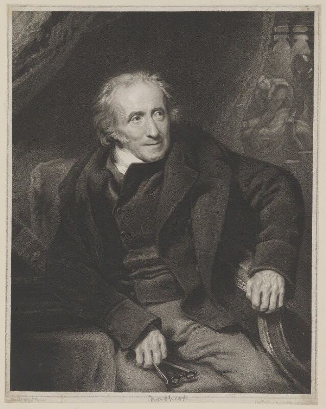James Northcote, by Frederick Christian Lewis Sr, published by  Hurst, Robinson & Co, after  George Henry Harlow, published 1 June 1824 (circa 1817) - NPG D38785 - © National Portrait Gallery, London