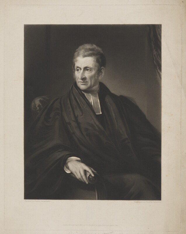 James Moore, by Henry Cousins, published by  Octavius Young Thiselton, after  James Lonsdale, published April 1836 - NPG D38934 - © National Portrait Gallery, London
