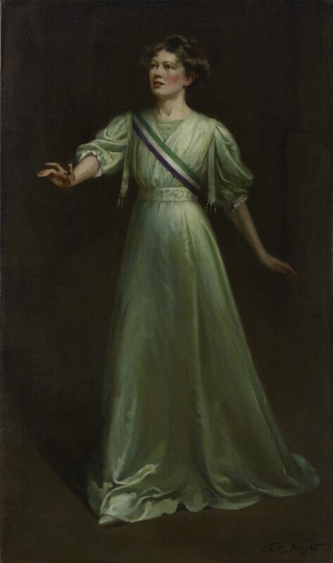 Dame Christabel Pankhurst, by Ethel Wright, exhibited 1909 - NPG 6921 - © National Portrait Gallery, London