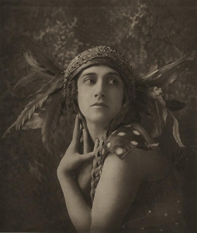 Tamara Karsavina as the Firebird in 'L'Oiseau de Feu' (The Firebird), by Emil Otto ('E.O.') Hoppé, 1911 - NPG x134193 - © 2017 E.O. Hoppé Estate Collection / Curatorial Assistance Inc.
