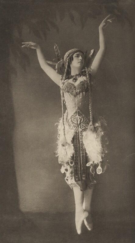 Tamara Karsavina as the Firebird in 'L'Oiseau de Feu' (The Firebird), by E.O. Hoppé, 1911 - NPG x134194 - © 2017 E.O. Hoppé Estate Collection / Curatorial Assistance Inc.