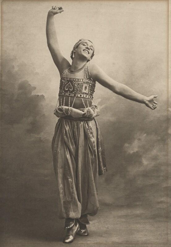 Vaslav Nijinsky in 'SVaslav Nijinskyhéhérazade', by (Auguste) Bert, 1911 - NPG x134207 - © reserved; collection National Portrait Gallery, London