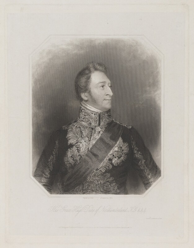 Hugh Percy, 3rd Duke of Northumberland, by William Holl Sr, or by  William Holl Jr, printed by  Wilkinson & Dawe, published by  R. Ryley, published by  James Fraser, published by  Sir Francis Graham Moon, 1st Bt, after  George Raphael Ward, published 1838 - NPG D39306 - © National Portrait Gallery, London
