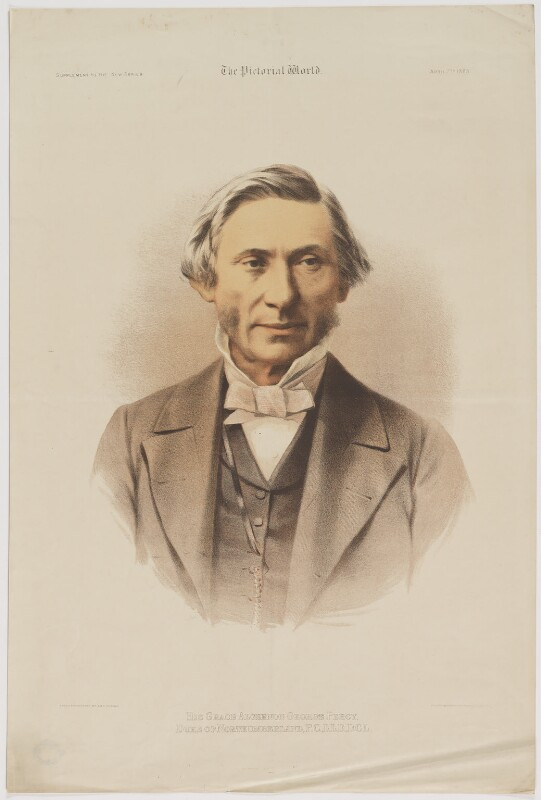 Algernon George Percy, 6th Duke of Northumberland, printed by Maclure & Macdonald, published by  The Pictorial World, after  W. & D. Downey, published 7 April 1883 - NPG D39311 - © National Portrait Gallery, London