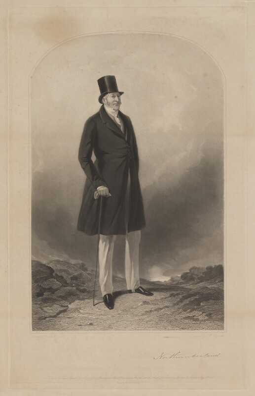 Hugh Percy, 3rd Duke of Northumberland, by Samuel William Reynolds Jr, printed by  Brooker & Harrison, published by  Thomas Agnew, and published by  Ackermann & Co, and published by  Anaglyphic Company, after  Richard Ansdell, 18 July 1844 - NPG D39313 - © National Portrait Gallery, London