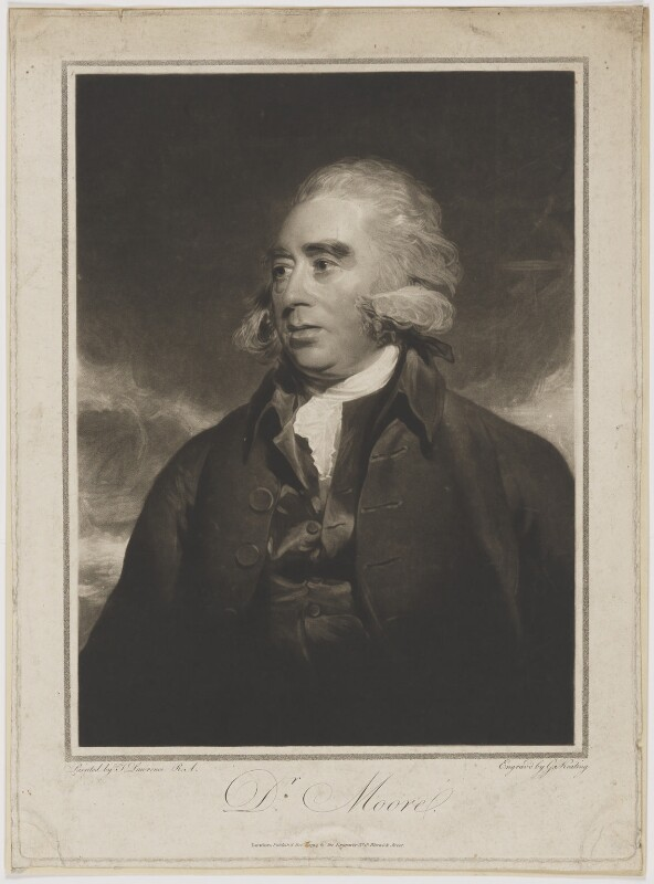 John Moore, by and published by George Keating, after  Sir Thomas Lawrence, published December 1794 (circa 1790) - NPG D38942 - © National Portrait Gallery, London