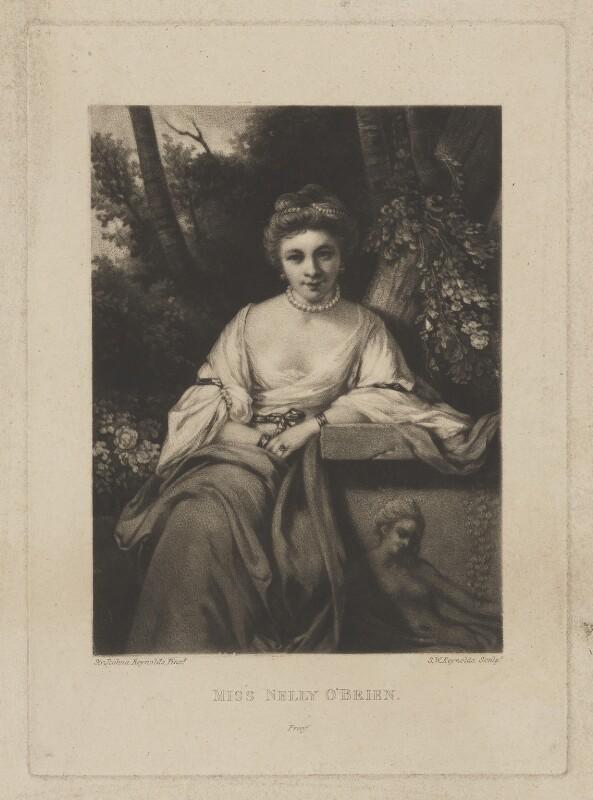 Nelly O'Brien, by Samuel William Reynolds, after  Sir Joshua Reynolds, (circa 1762-1764) - NPG D39344 - © National Portrait Gallery, London