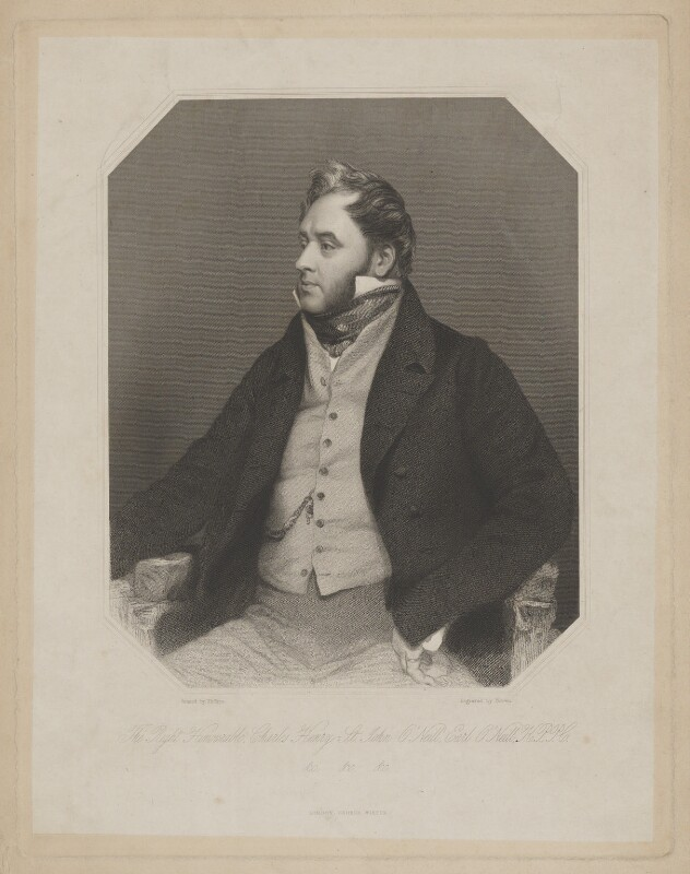 Charles Henry St John O'Neill, Earl O'Neill, by Joseph Brown, published by  George Virtue, after  Thomas Phillips, (1839) - NPG D39355 - © National Portrait Gallery, London