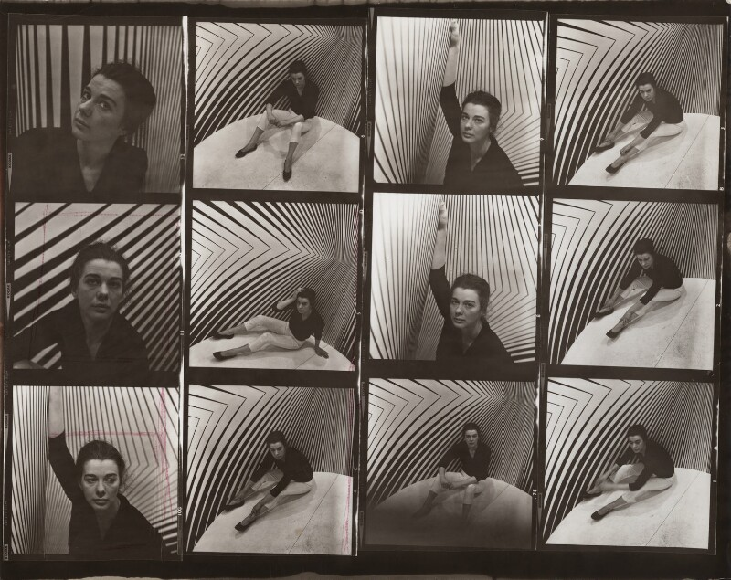 Bridget Riley, by Ida Kar, 1963 - NPG x134209 - © National Portrait Gallery, London