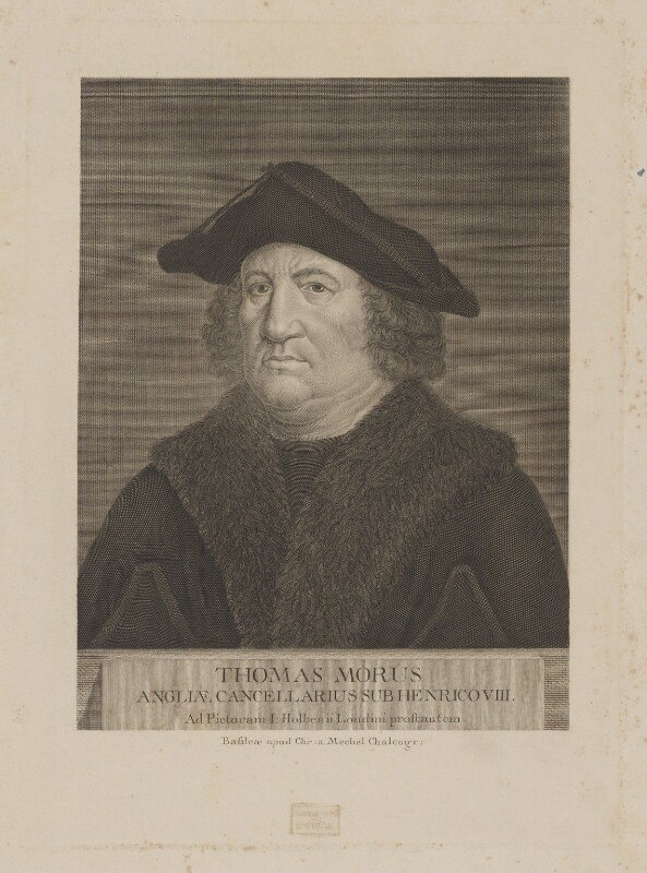Sir Thomas More, published by Christian von Mechel, late 18th century - NPG D39013 - © National Portrait Gallery, London
