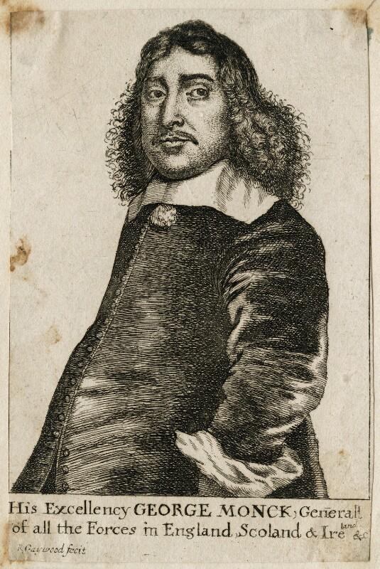 George Monck, 1st Duke of Albemarle, by Richard Gaywood, circa 1660 - NPG D39424 - © National Portrait Gallery, London