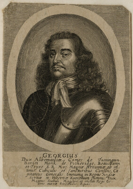 George Monck, 1st Duke of Albemarle, after Unknown artist, circa 1660-1670 - NPG D39428 - © National Portrait Gallery, London
