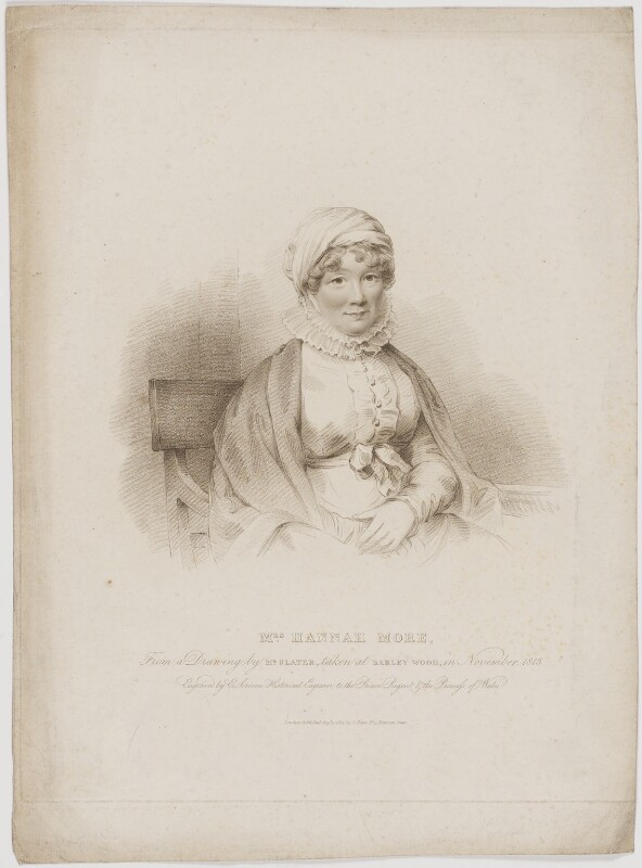 Hannah More, by Edward Scriven, published by and after  Joseph Slater, published 15 August 1814 (November 1813) - NPG D39017 - © National Portrait Gallery, London