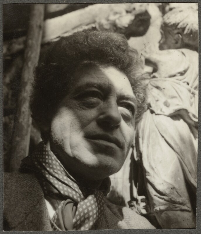 Alberto Giacometti, by Ida Kar, 1954 - NPG Ax134321 - © National Portrait Gallery, London