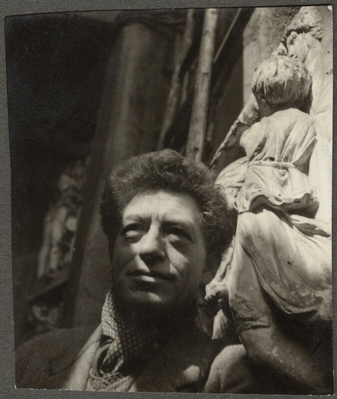 Alberto Giacometti, by Ida Kar, 1954 - NPG Ax134322 - © National Portrait Gallery, London