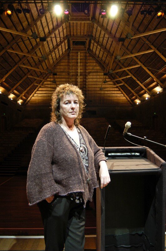 Dame Carol Ann Duffy, by Peter Everard Smith, August 2005 - NPG x134329 - © Peter Everard Smith
