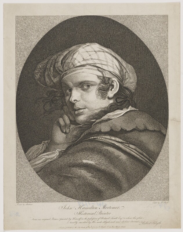 John Hamilton Mortimer, by and published by Robert Blyth, after  John Hamilton Mortimer, published 19 September 1782 - NPG D39055 - © National Portrait Gallery, London